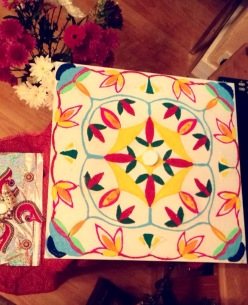 Rangoli pattern by my mum and I